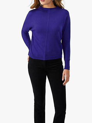 Pure Collection Batwing Cotton Jumper