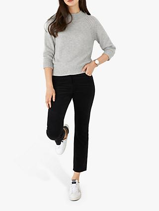 Pure Collection Cashmere Turtle Neck Jumper, Heather Dove