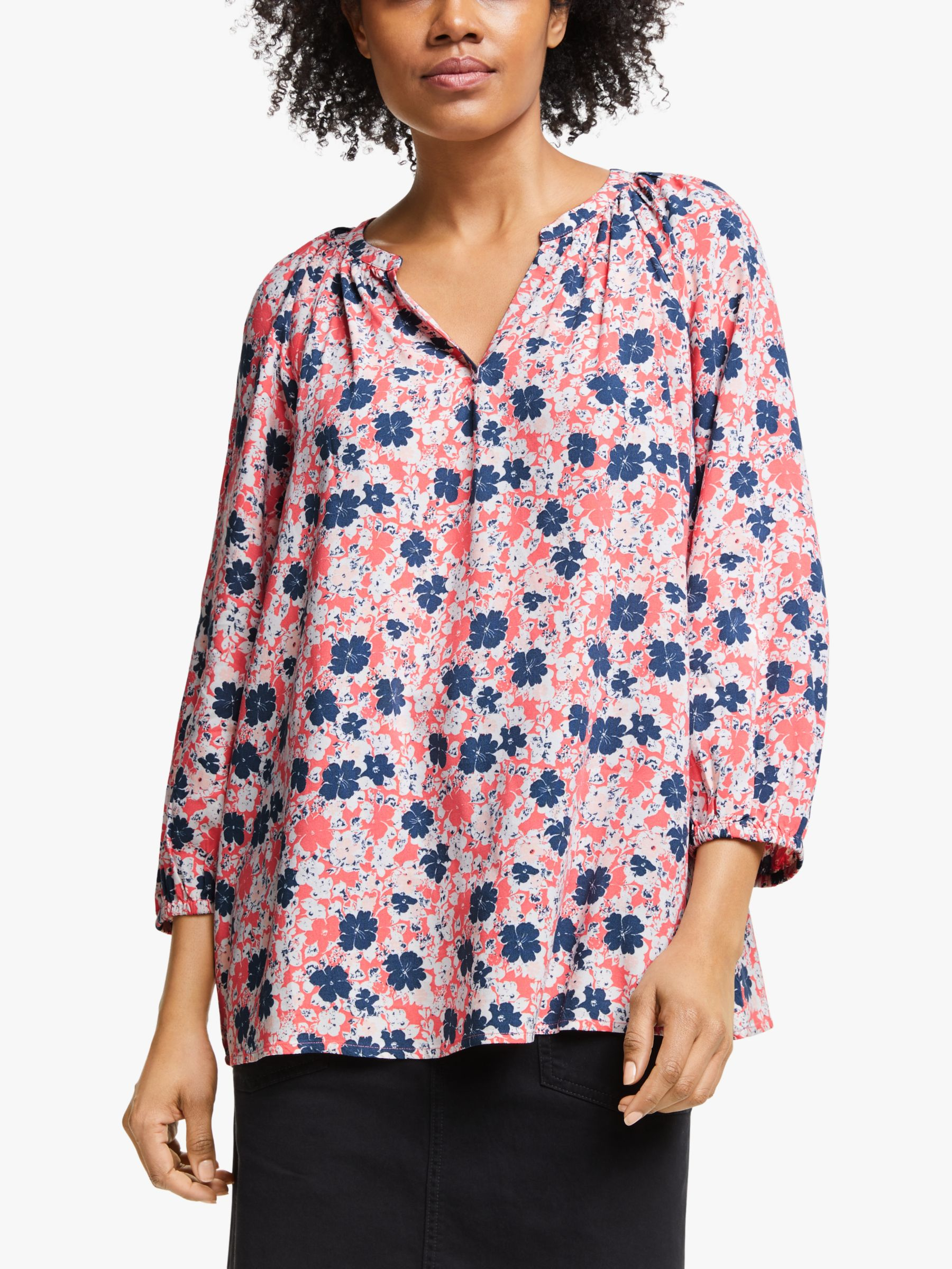 Collection WEEKEND by John Lewis Collection WEEKEND by John Lewis Lavinia Floral Smock Top, Pink
