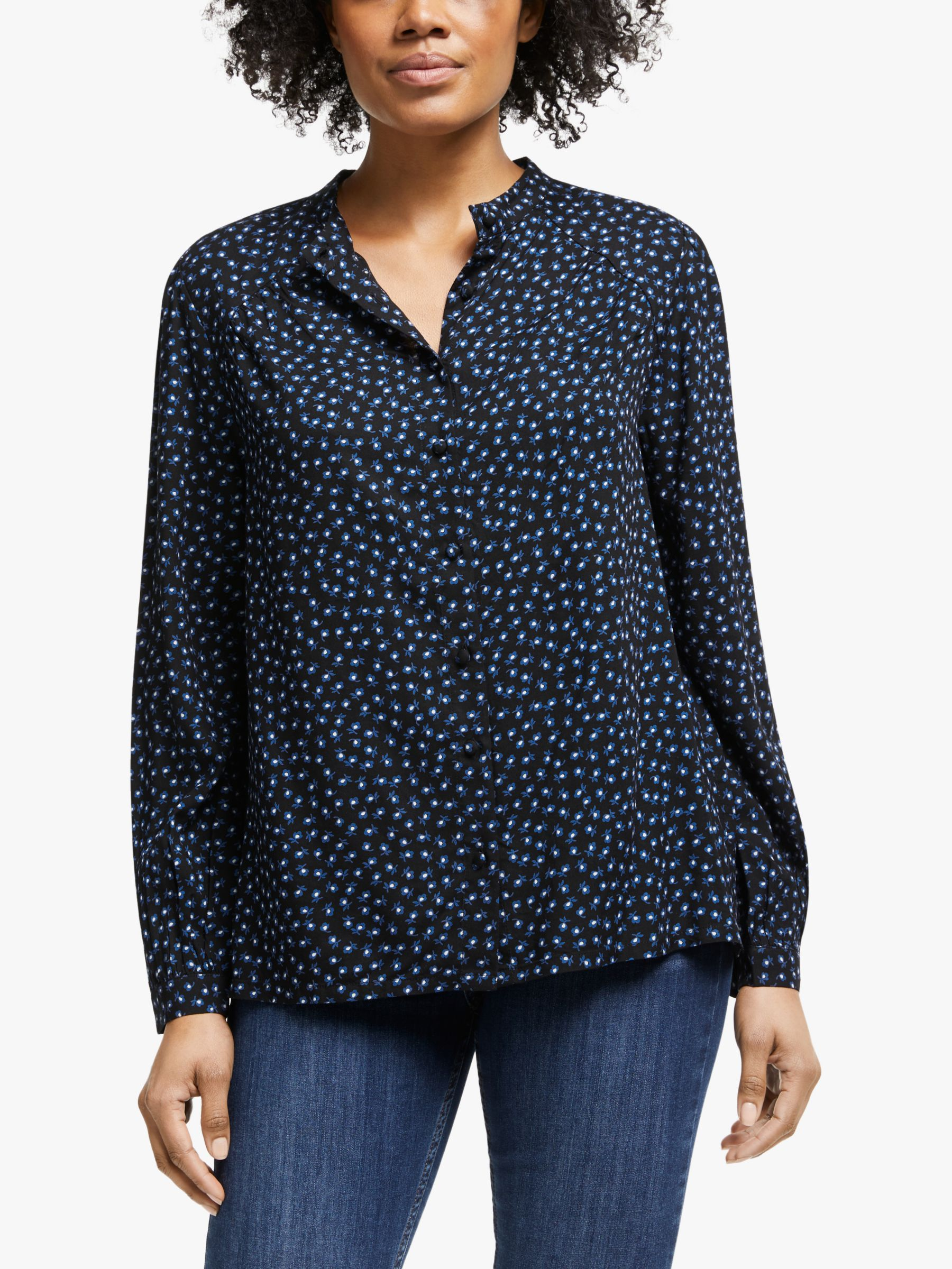 Collection WEEKEND by John Lewis Collection WEEKEND by John Lewis Archive Floral Blouse, Black/Blue