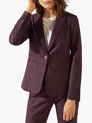Jigsaw Donegal Blazer, Plum Rose