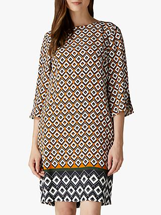 Jaeger Geometric Shift Dress, Multi
