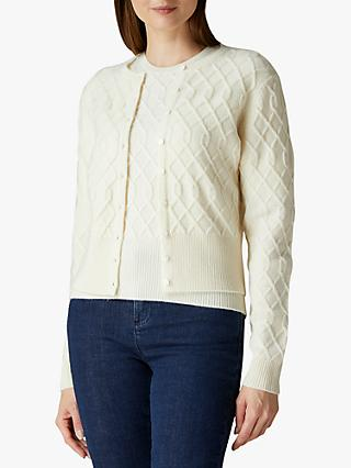 Jaeger Cropped Cable Detail Cardigan