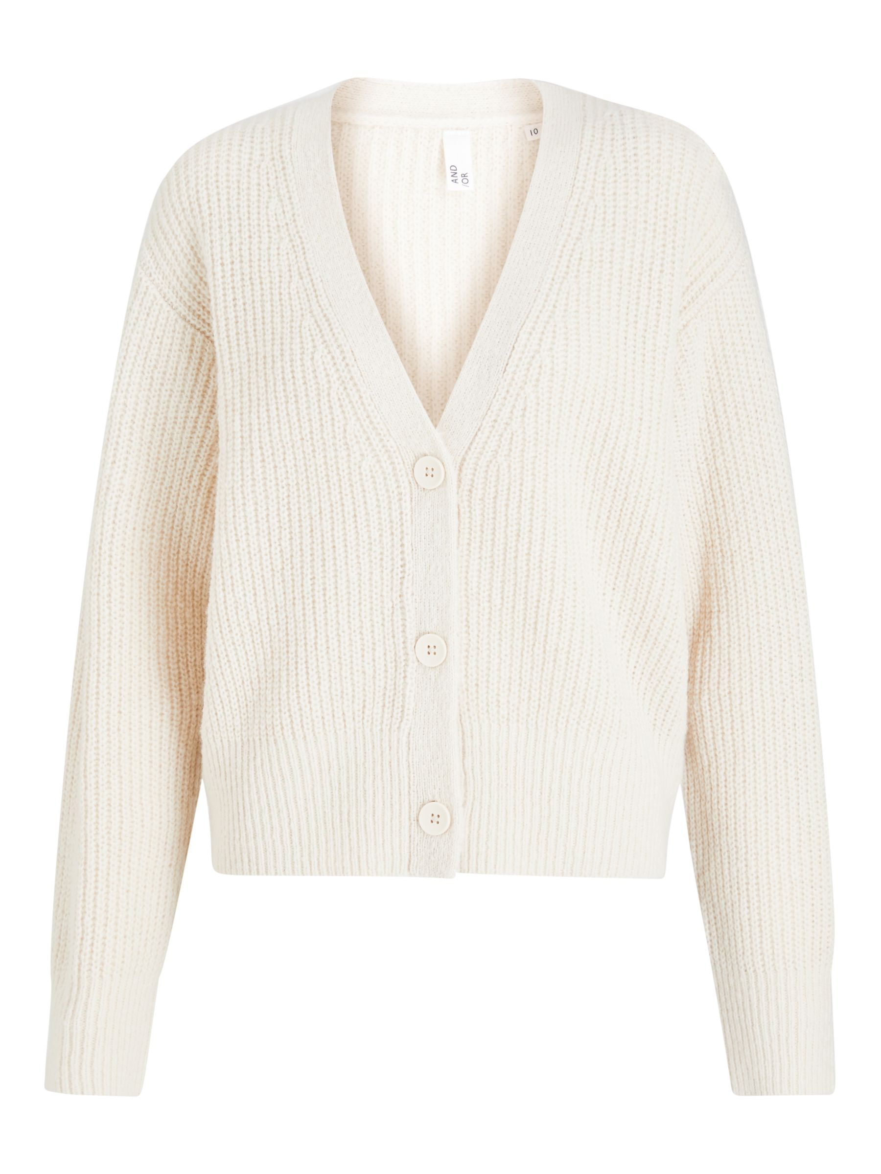 Buy AND/OR Cassidy Cardigan, Natural, 8 Online at johnlewis.com