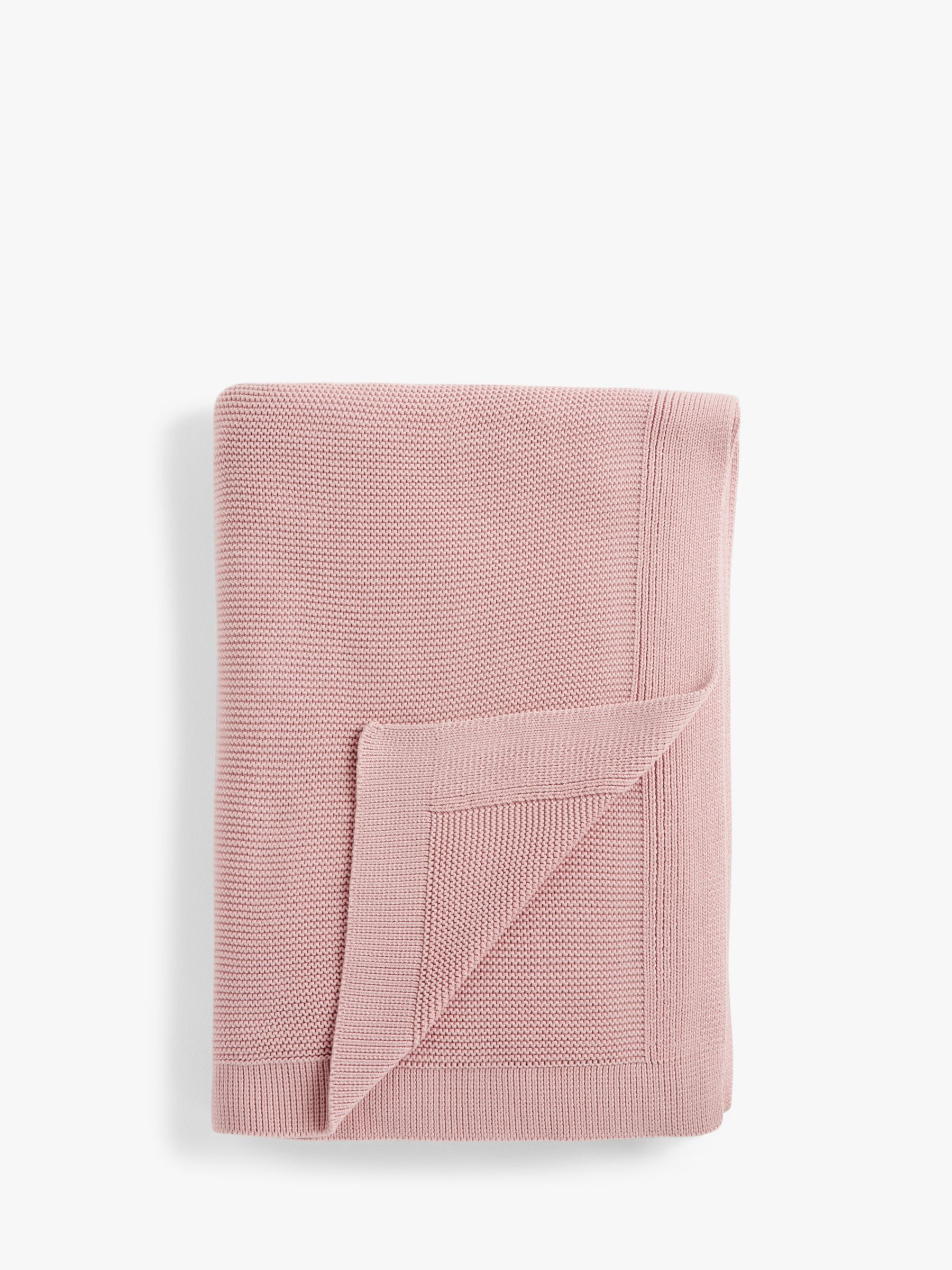 Buy John Lewis & Partners Rye Plain Knit Throw, Plaster Online at johnlewis.com