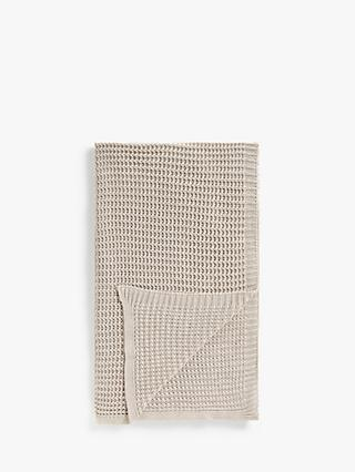 John Lewis & Partners Chain Stitch Throw