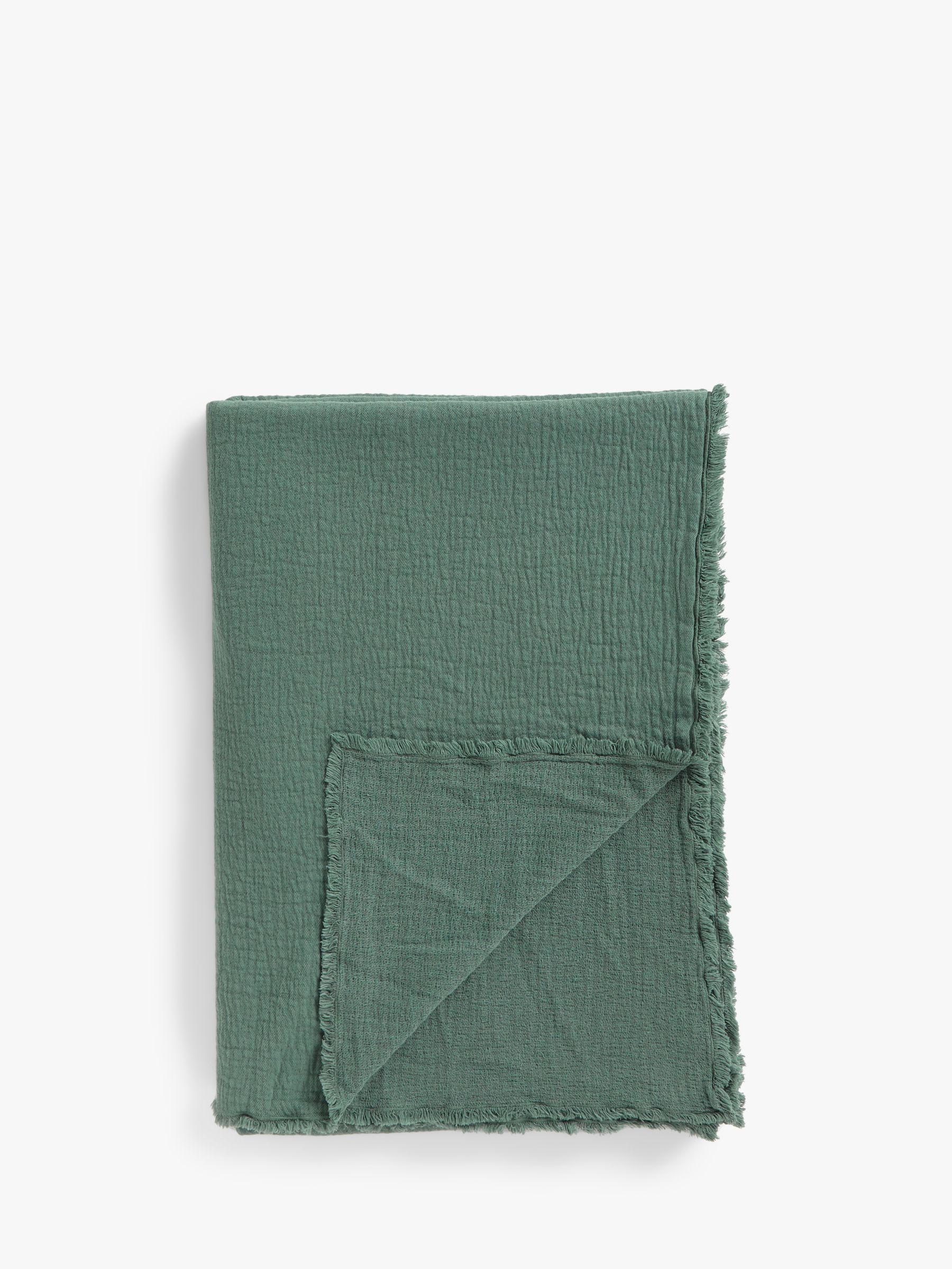 Buy John Lewis & Partners Washed Cotton Bedspread, Thyme Online at johnlewis.com