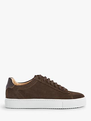 Reiss Finley Suede Trainers, Chocolate