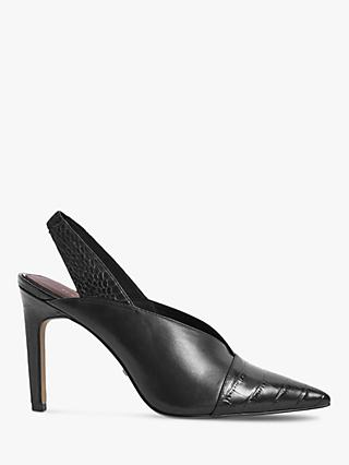 Reiss Angelica Leather Sling Back Heels
