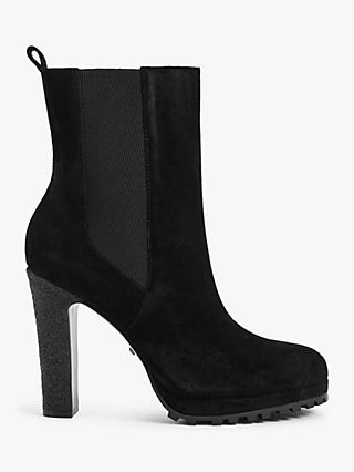 Reiss Amalia Suede Heeled Ankle Boots