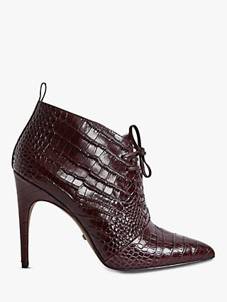 Reiss Aida Leather Lace Up Shoe Boots
