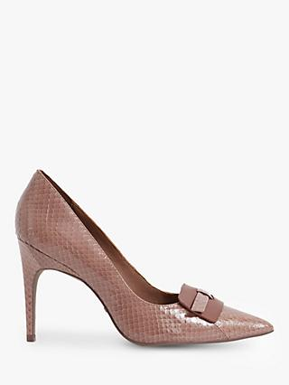 Reiss Harriet Leather Court Shoes