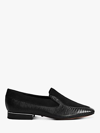 Reiss Nina Leather Slip On Loafers