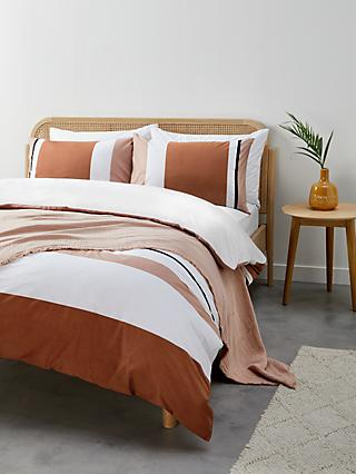 John Lewis & Partners Block Stripe Duvet Cover Set