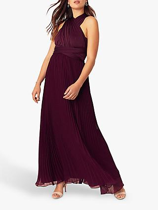 Oasis Wear It Maxi Dress, Burgundy