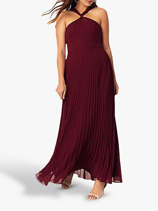 Oasis Twist Neck Maxi Dress, Burgundy