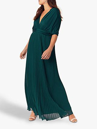 Oasis Wear It Pleated Maxi Dress, Teal Green