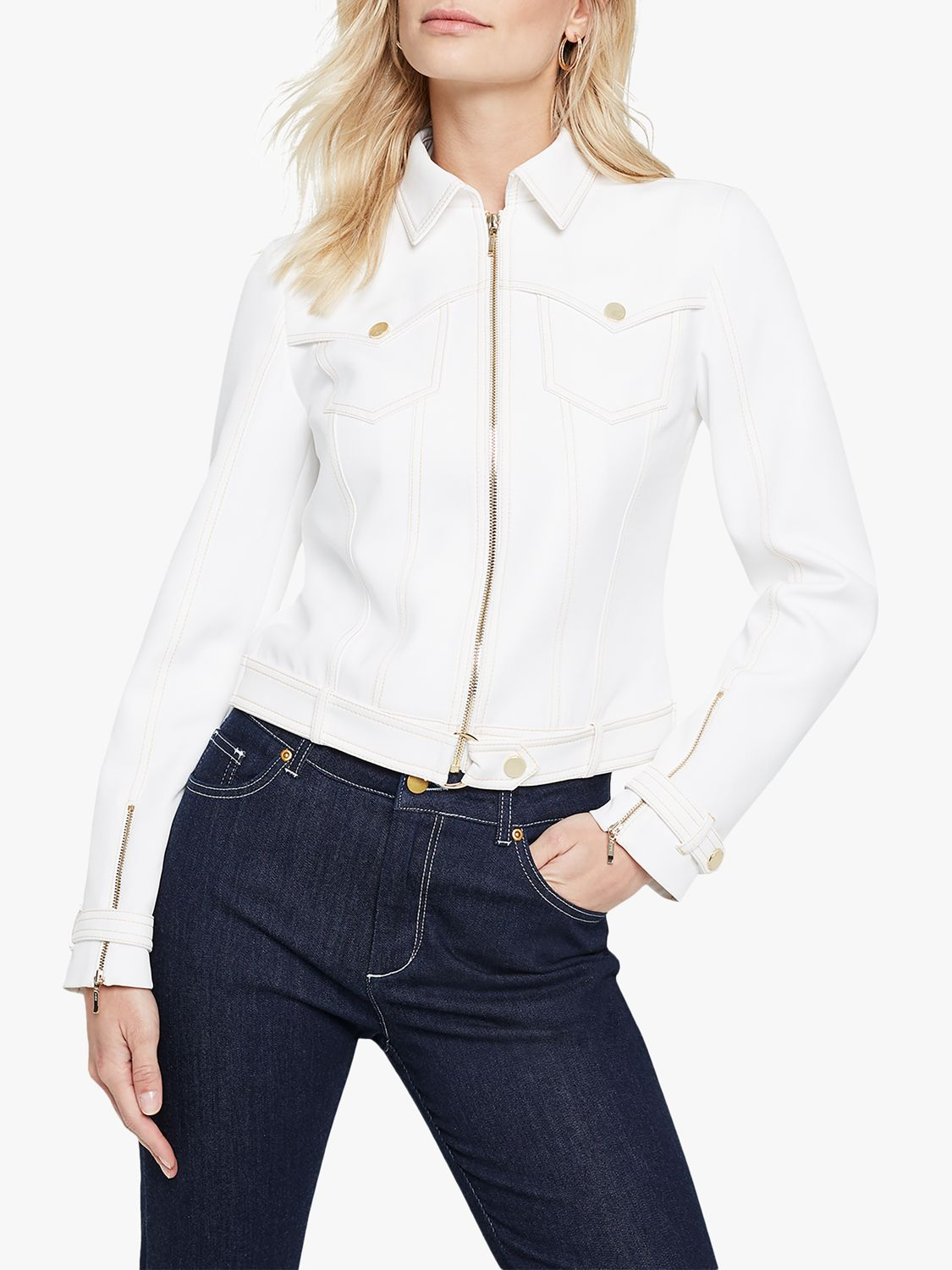 Damsel in a dress Damsel in a Dress Florens Biker Jacket, White