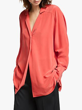 Modern Rarity Raglan Sleeve Silk Shirt, Pink