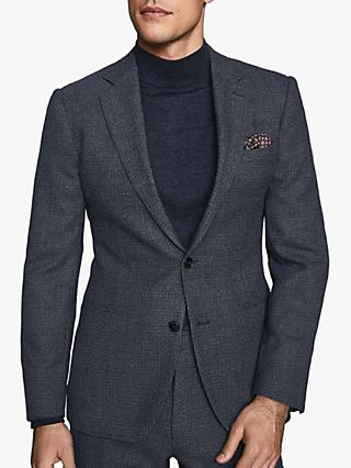 Reiss Pavese Textured Wool Slim Fit Suit Jacket, Navy