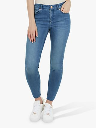Ted Baker Aaciee Raw Hem Skinny Jeans, Blue Denim