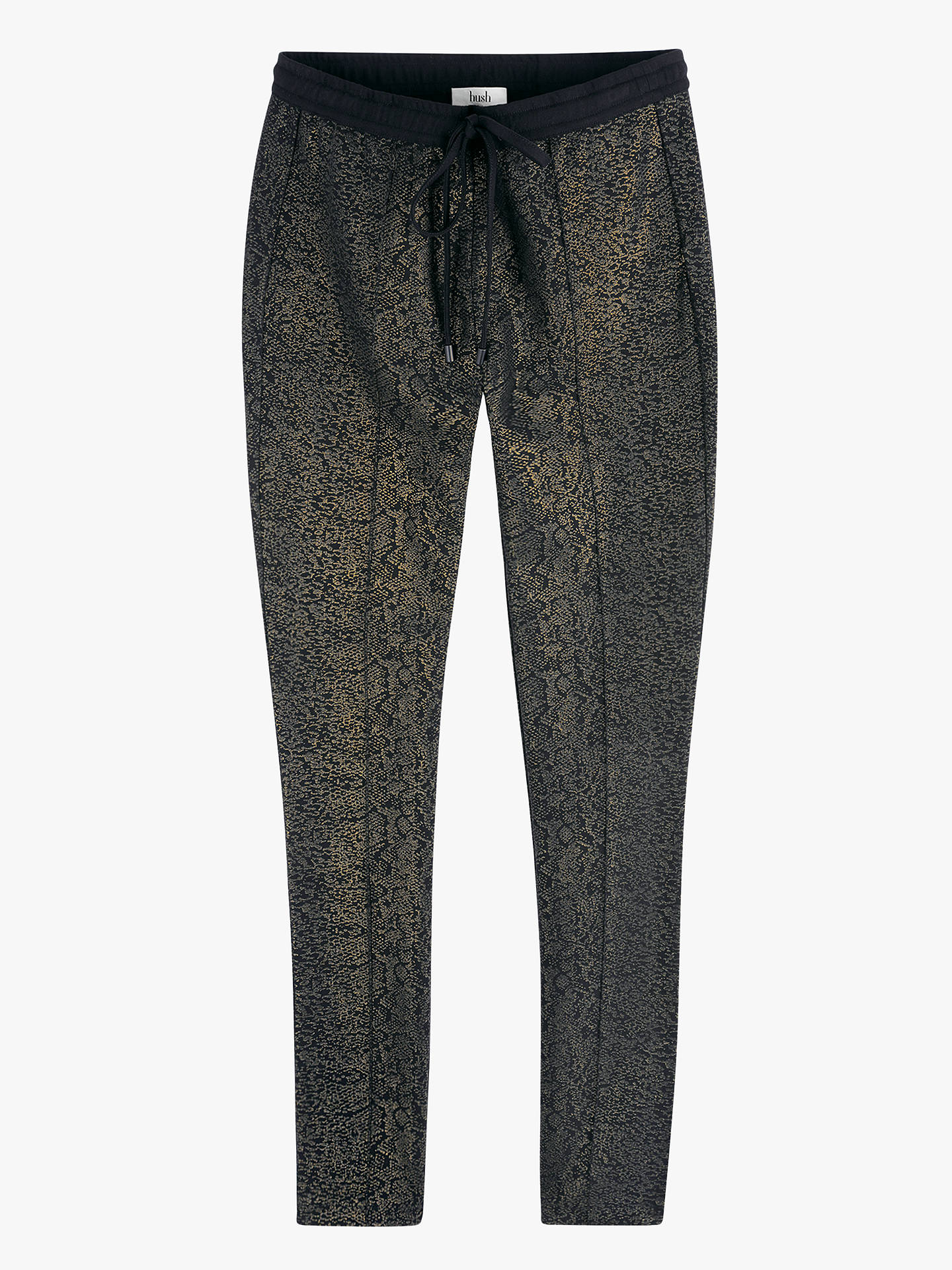 Buy hush Gold Foil Snake Print Trousers, Gold Foil Snake, XS Online at johnlewis.com