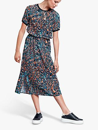hush Annalise T-Shirt Dress, Abstract Print