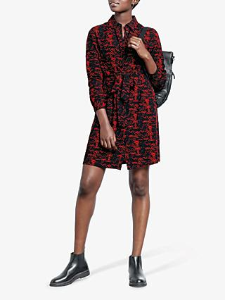 hush Wendy Shirt Dress, Red Snake