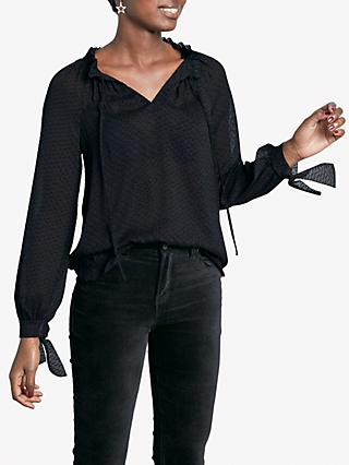 hush Sherilyn Textured Blouse, Black