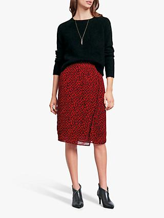 hush Dionne Floral Skirt, Floral Black/Red