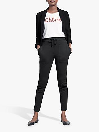 hush Big Pocket Trousers, Black