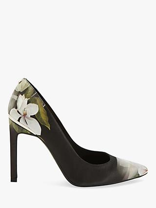Ted Baker Melnip Floral Stiletto Heel Court Shoes, Black