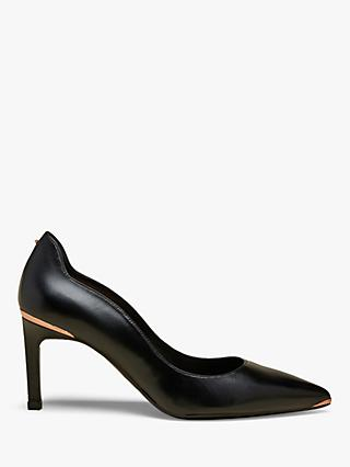 Ted Baker Eriina Stiletto Heel Leather Court Shoes