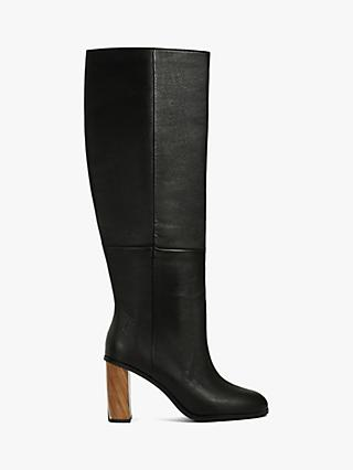 Ted Baker Dolarel Leather Knee High Boots, Black