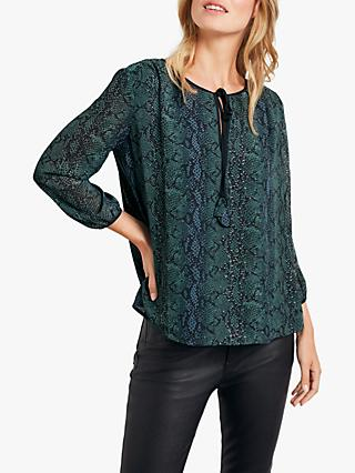 hush Aida Python Print Top, Grey/Green