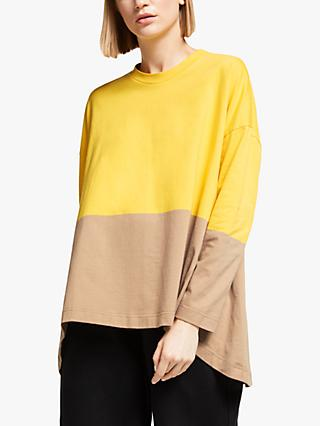 Kin Colour Block Long Sleeve T-Shirt, Yellow/Multi