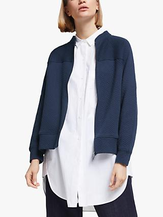 Kin Relaxed Fit Zip Through Quilted Cotton Sweatshirt