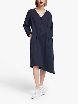 Kin Half Zip Waist Dress, Navy