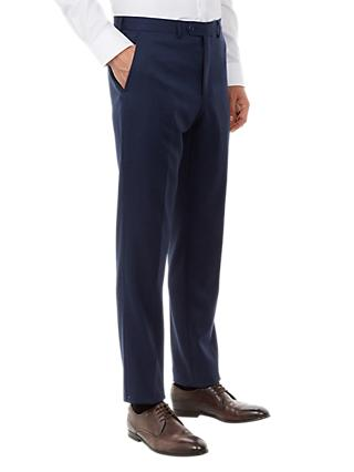 Ted Baker Ovract Birdseye Wool Suit Trousers, Navy