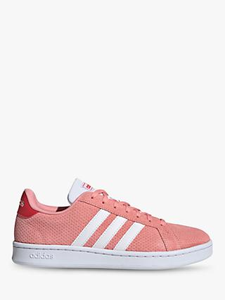adidas Grand Court Women's Trainers, Glory Pink/FTWR White/Glory Red