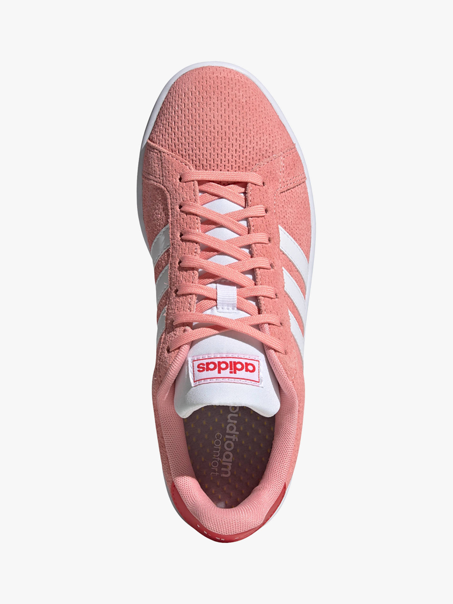 Buy adidas Grand Court Women's Trainers, Glory Pink/FTWR White/Glory Red, 4 Online at johnlewis.com