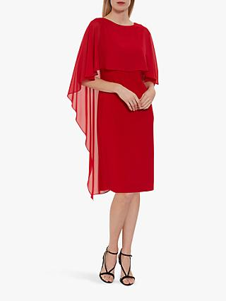 Gina Bacconi Kaisa Dress with Chiffon Cape