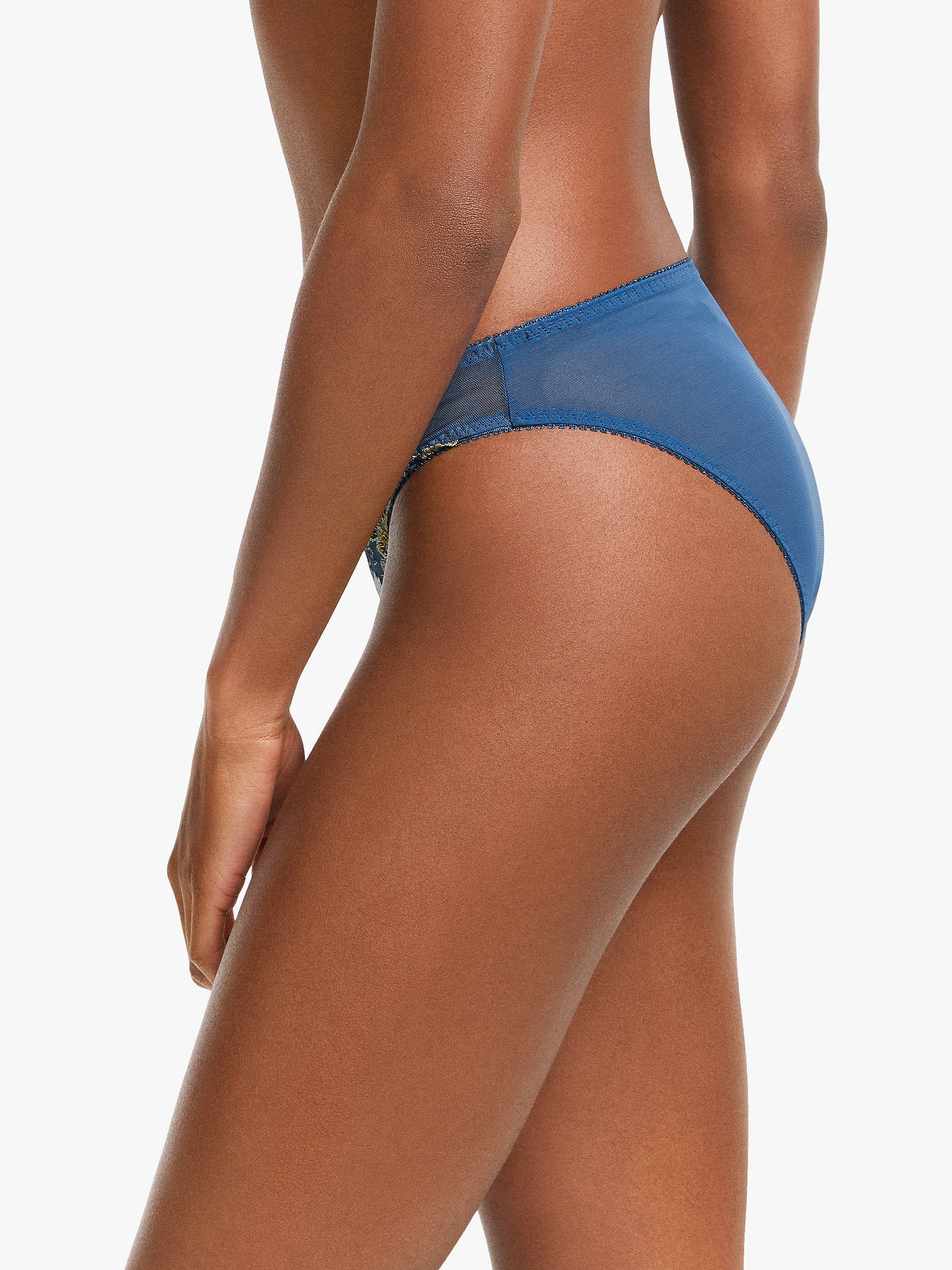 Buy AND/OR Harper Rebel Embroidered Bikini Briefs, Indigo, 14 Online at johnlewis.com