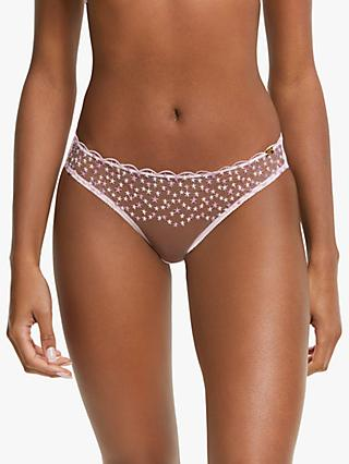 AND/OR Kiki Star Embroidered Briefs, Dusty Rose