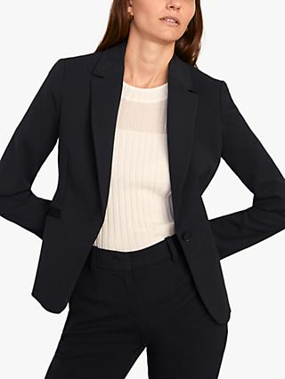 Jigsaw Paris Single Button Jacket, Navy