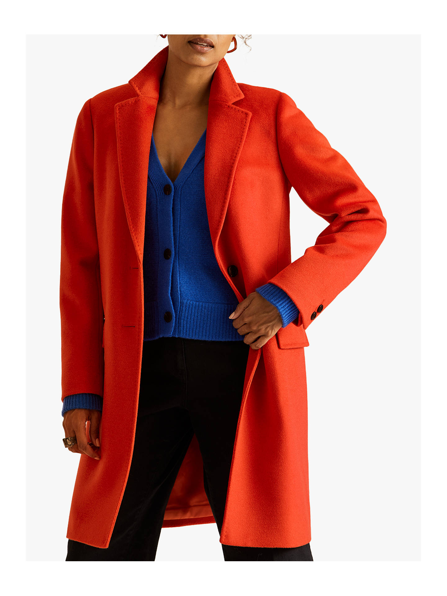 jigsaw-single-breasted-wool-city-coat,-persimmon by jigsaw