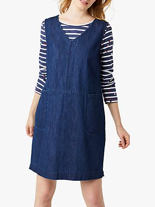 White Stuff Weekend Denim Pinafore Dress, Denim