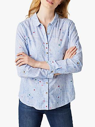 White Stuff Sometimes Star Print Cotton Shirt, Blue Multi