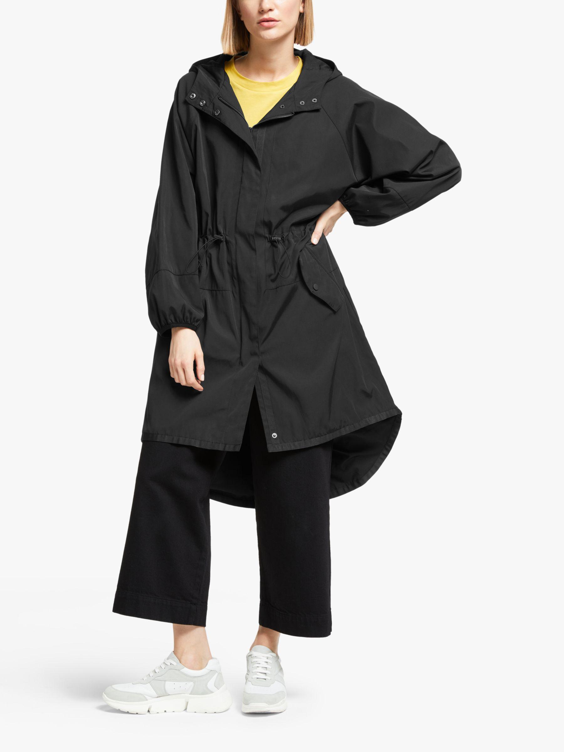 Kin Kin Longline Parka Coat, Black