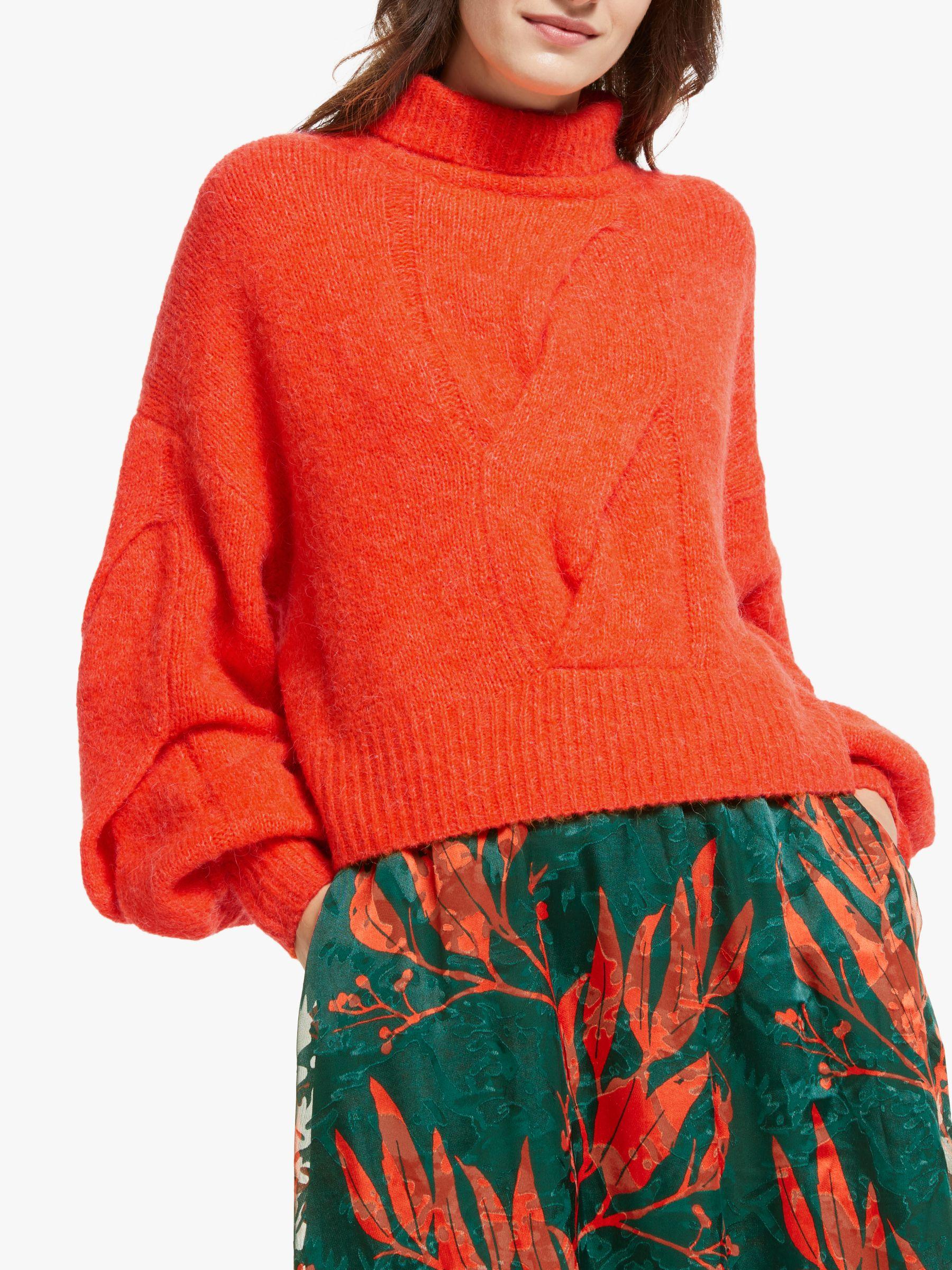 Y.a.s Y.A.S Lexie Knit Long Sleeve Jumper, Orange